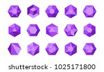 collection of colorful purple... | Shutterstock .eps vector #1025171800
