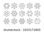set of lined isometric... | Shutterstock .eps vector #1025171803