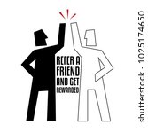 refer a friend abstract... | Shutterstock .eps vector #1025174650