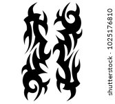 tattoo tribal vector design.... | Shutterstock .eps vector #1025176810