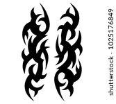 tattoos ideas designs   tribal... | Shutterstock .eps vector #1025176849