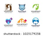 Stock vector collection of pet logo set of vector pet logo and icons for pet club or shop pet care and 1025179258