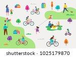 summer outdoor scene with... | Shutterstock .eps vector #1025179870