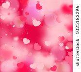 hearts random background. st.... | Shutterstock .eps vector #1025183296