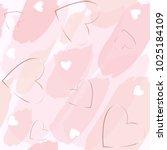 seamless pattern. brush strokes ... | Shutterstock .eps vector #1025184109