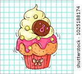 a hand drawn vector doodle of a ... | Shutterstock .eps vector #1025188174