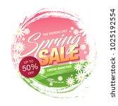 spring sale banner template...   Shutterstock .eps vector #1025192554
