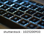 illuminated backlit notebook... | Shutterstock . vector #1025200933
