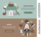 two horizontal law banners with ... | Shutterstock .eps vector #1025202094