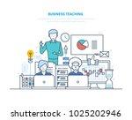business teaching. professional ... | Shutterstock .eps vector #1025202946