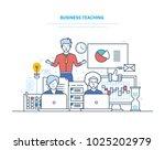 business teaching. professional ... | Shutterstock .eps vector #1025202979