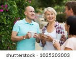 mature cheerful males and... | Shutterstock . vector #1025203003
