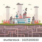 plant with underground pipes  ... | Shutterstock .eps vector #1025203033