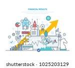 financial results. data... | Shutterstock .eps vector #1025203129