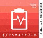 electrocardiogram symbol icon   Shutterstock .eps vector #1025205490