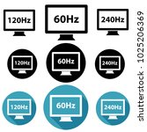 different screen refresh rates  ...   Shutterstock .eps vector #1025206369