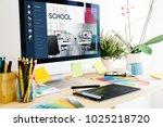 online training concept | Shutterstock . vector #1025218720