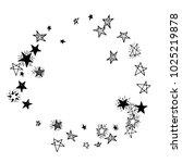 frame of stars. black and white ... | Shutterstock .eps vector #1025219878