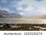 sea  storm  mountains  sun rays ... | Shutterstock . vector #1025220274