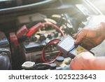 selective focus an auto... | Shutterstock . vector #1025223643