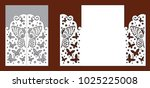 wedding invitation with lace... | Shutterstock .eps vector #1025225008