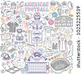 american football doodle set.... | Shutterstock .eps vector #1025225539