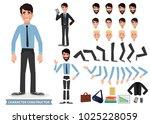 business man cartoon character... | Shutterstock .eps vector #1025228059