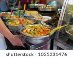traditional food at the street...   Shutterstock . vector #1025231476