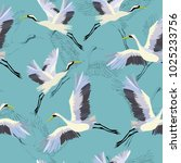 crane  pattern  illustration | Shutterstock . vector #1025233756