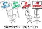 job hiring sign empty office... | Shutterstock .eps vector #102524114