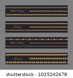 gold chain jewelry poster... | Shutterstock .eps vector #1025242678