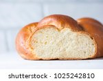 homemade challah bread ... | Shutterstock . vector #1025242810