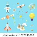 science themed vector...   Shutterstock .eps vector #1025243620