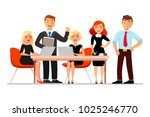 business people at the meeting... | Shutterstock .eps vector #1025246770