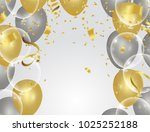 colorful balloons  holiday...   Shutterstock .eps vector #1025252188
