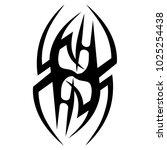 tattoo tribal vector design.... | Shutterstock .eps vector #1025254438