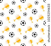 seamless pattern with soccer... | Shutterstock .eps vector #1025254633