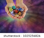 crystal healer offering... | Shutterstock . vector #1025256826