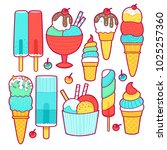 set of ice cream icons | Shutterstock .eps vector #1025257360