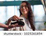 nfc technology. selective focus ...   Shutterstock . vector #1025261854