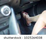 selective focus of female foot... | Shutterstock . vector #1025264038