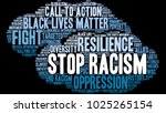 stop racism word cloud on a... | Shutterstock .eps vector #1025265154