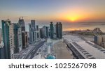 the skyline of west bay and... | Shutterstock . vector #1025267098