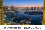 evening at the pearl qatar day... | Shutterstock . vector #1025267689