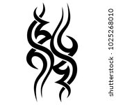 tattoo tribal vector design.... | Shutterstock .eps vector #1025268010