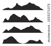 mountains silhouettes on the... | Shutterstock .eps vector #1025271373