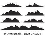 mountains silhouettes on the... | Shutterstock .eps vector #1025271376