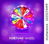 fortune wheel realistic vector...   Shutterstock .eps vector #1025274499