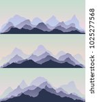 majestic mountains.the abstract ... | Shutterstock .eps vector #1025277568