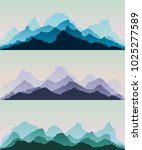 majestic mountains.the abstract ... | Shutterstock .eps vector #1025277589